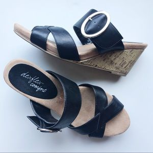 DexFlex Comfort • Wedged Cork Sandals